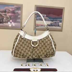 Gucci GG Pattern Canvas/Leather Shoulder/Handbag